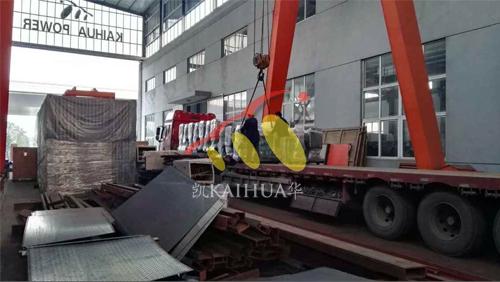 东北某水利局一批潍坊柴油发电机组今日成功出厂 发货现场 第3张