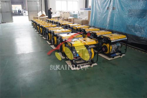 出口中亚20台5KW便携式发电机组今日成功出厂 发货现场 第2张