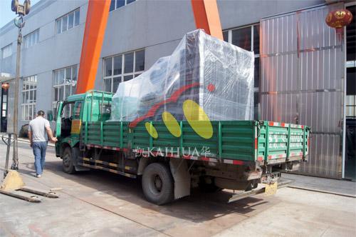 郑州交通学校1台600KW上柴发电机组今日成功出厂 发货现场 第3张