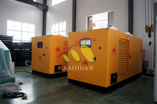 出口印尼2台500KW康明斯静音机组今日成功出厂 发货现场 第1张