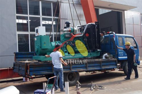 南京电气设备公司1台350KW上海柴油发电机组今日成功出厂 发货现场 第2张
