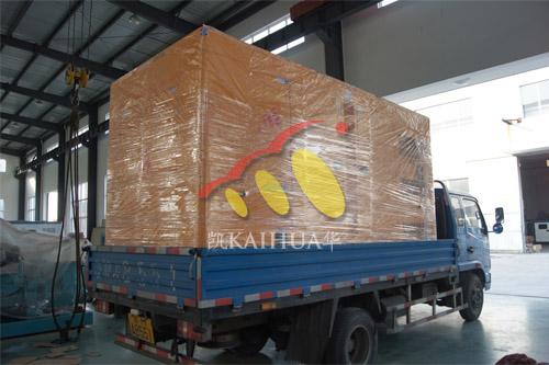 南京某军区1台300KW康明斯静音机组今日成功出厂 发货现场 第3张