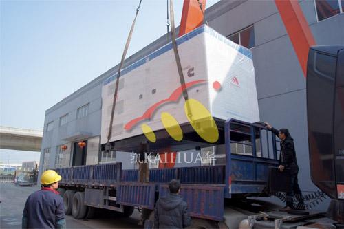 出口伊朗1台550KW康明斯静音机组今日成功出厂 发货现场 第2张