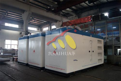 出口东亚3台800KW康明斯静音机组今日成功出厂 发货现场 第1张