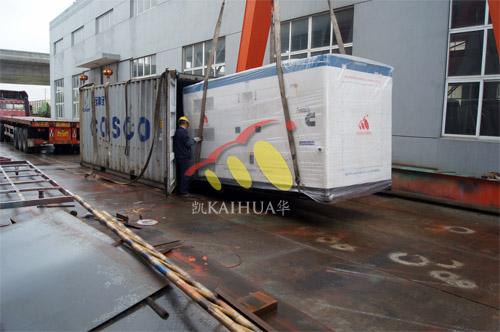 出口斯里兰卡1台250KW康明斯静音机组今日成功出厂 发货现场 第2张