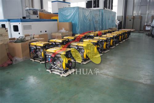 出口中亚20台5KW便携式发电机组今日成功出厂 发货现场 第1张