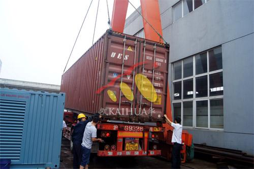 出口大洋洲6台500KW康明斯集装箱式发电机组今日成功出厂 发货现场 第4张