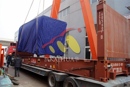出口南美4台800KW康明斯静音机组今日成功出厂 发货现场 第2张