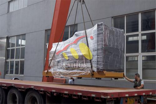 广州水泥公司2台500KW上柴发电机组近日成功出厂 发货现场 第2张