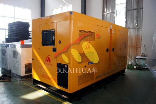 南京某军区1台300KW康明斯静音机组今日成功出厂 发货现场 第1张