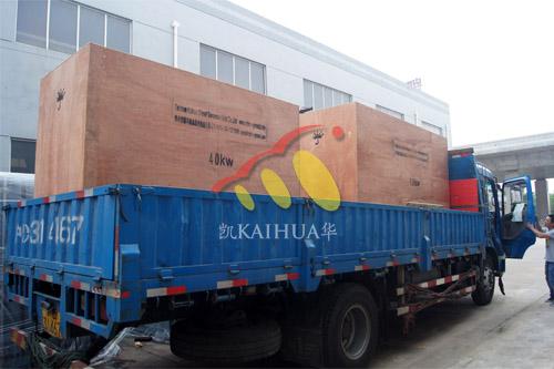 出口马尔代夫2台康明斯静音机组今日成功出厂 发货现场 第4张