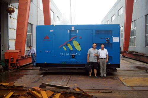 出口安哥拉1台400KW静音机组今日成功出厂 发货现场 第1张