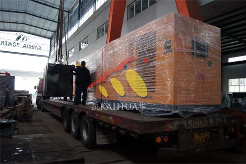 马来西亚5台康明斯防雨罩机组今日成功出厂 发货现场 第2张
