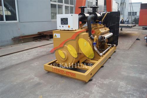河南房地产1台500KW上柴发电机组今日成功出厂 发货现场 第1张