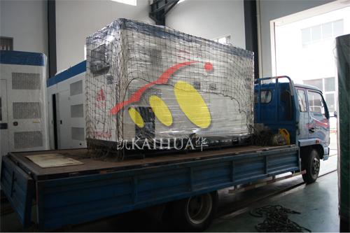 上海1台康明斯静音发电机组成功出厂 发货现场 第2张