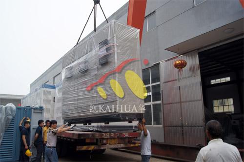 出口东亚3台800KW康明斯静音机组今日成功出厂 发货现场 第3张