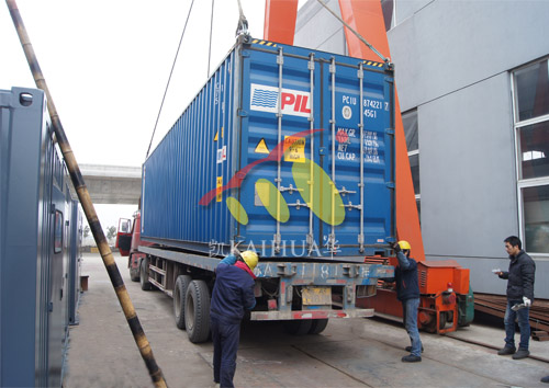 出口安哥拉8台康明斯机组今日成功出厂 发货现场 第3张