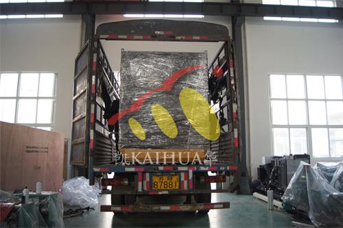 河南房地产1台500KW上柴发电机组今日成功出厂 发货现场 第2张
