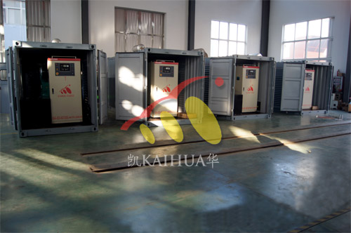 出口大洋洲4台500KW康明斯集装箱式机组今日成功出厂 发货现场 第2张