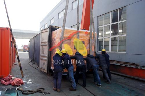 出口缅甸1台1000KW康明斯静音机组今日成功出厂 发货现场 第2张