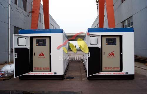 北京贵族学校2台500KW大宇静音机组成功出厂