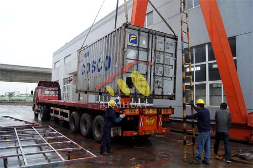 出口斯里兰卡1台250KW康明斯静音机组今日成功出厂 发货现场 第3张