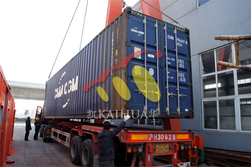 出口西非6台康明斯静音机组今日成功出厂 发货现场 第6张