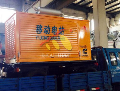 江西1台康明斯发电机组成功出厂 发货现场 第2张