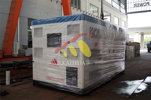 河南省1台500KW康明斯静音机组今日成功出厂 发货现场 第2张