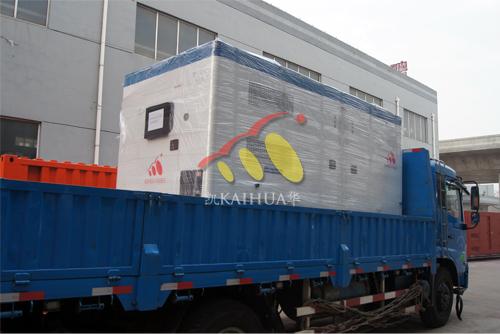 非洲1台珀金斯静音型发电机组今日成功出厂 发货现场 第2张