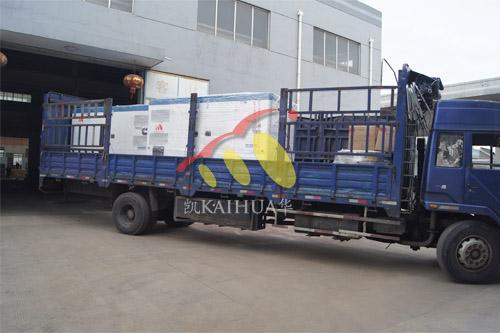 中铁集团2台160KW康明斯静音机组今日成功出厂 发货现场 第3张