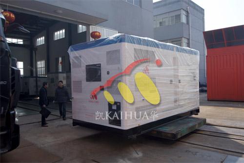 出口伊朗1台550KW康明斯静音机组今日成功出厂 发货现场 第1张