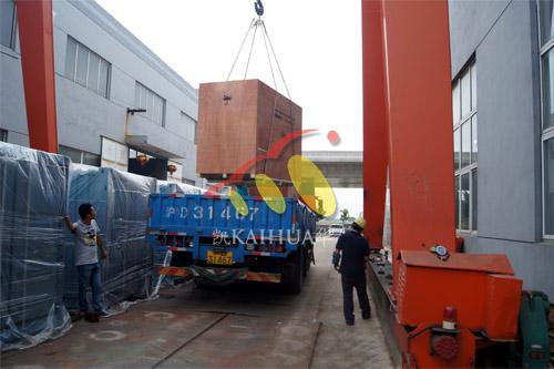 出口马尔代夫2台康明斯静音机组今日成功出厂 发货现场 第3张