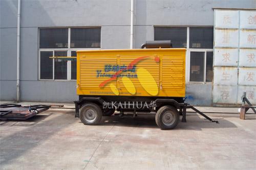 鄂厄多斯煤矿1台350KW玉柴移动式机组今日成功出厂