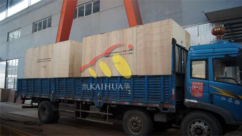 出口2台400KW康明斯防雨罩机组今日成功出厂 发货现场 第3张