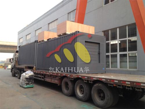 出口南非2台500KW康明斯集装箱式机组今日成功出厂 发货现场 第3张