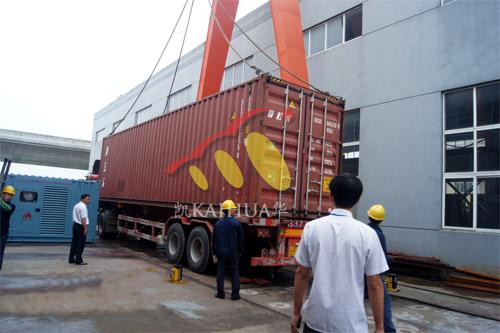 出口大洋洲6台500KW康明斯集装箱式发电机组今日成功出厂 发货现场 第3张