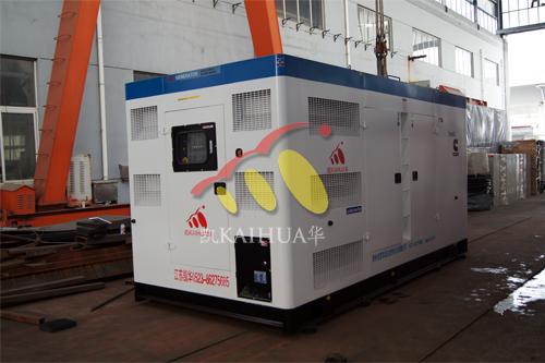 河南省1台500KW康明斯静音机组今日成功出厂 发货现场 第1张