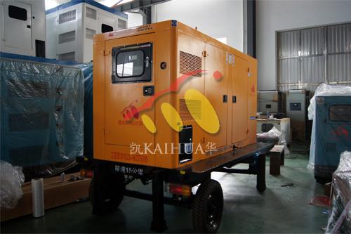 上海1台移动低噪音发电机组成功出厂 发货现场 第1张