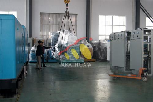合肥工业设备1台400KW上柴发电机组今日成功出厂 发货现场 第1张