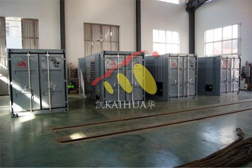 出口大洋洲12台康明斯集装箱式发电机组今日成功出厂 发货现场 第2张