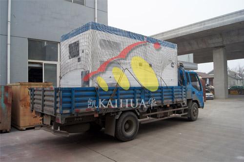连云港市政1台300KW康明斯静音机组今日成功出厂 发货现场 第2张