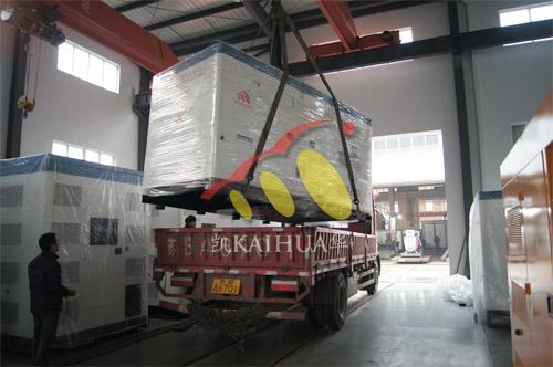 海南疗养院1台400KW康明斯静音机组今日成功出厂 发货现场 第2张