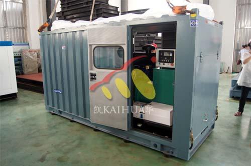四川中海油一台200KW康明斯静音机组今日成功出厂 发货现场 第2张