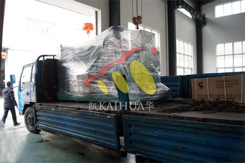 杭州1台300KW康明斯机组今日成功出厂 发货现场 第3张