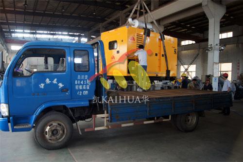 湖南400KW康明斯防雨罩机组今日成功出厂 发货现场 第2张