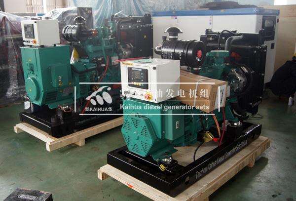 出口加纳的两台康明斯柴油发电机组成功出厂