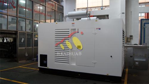 浙江1台400KW上柴防雨罩组今日成功出厂 发货现场