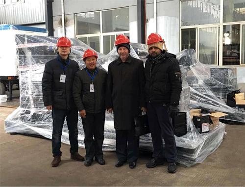 俄罗斯客户来我工厂验收350KW上柴机组 公司新闻 第1张