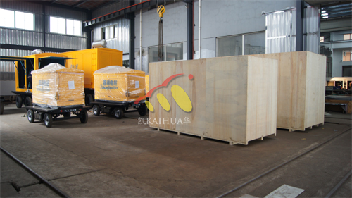 安哥拉5台康明斯发电机组今日成功出厂 发货现场 第1张